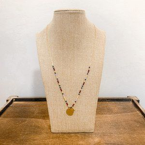 NEW Madewell dainty gold beaded charm necklace